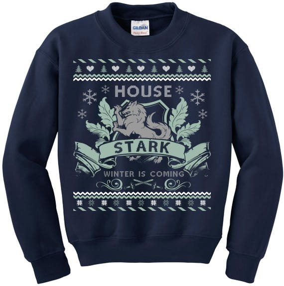 Game of Thrones. Ugly Christmas Sweater. Ugly Sweater Contest. Game of Thrones Sweatshirt. Ugly Sweater House of Stark. Winter is Coming qDkEw