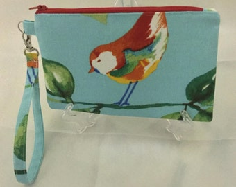 Wristlet Blue Bird Painted Bunting