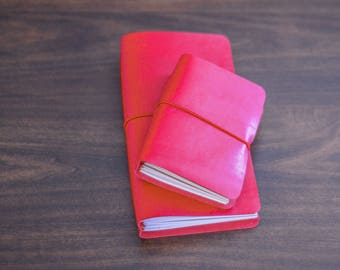 Traveler's Notebook - Ruby Red - Notebook - Leather - Planner - Journal