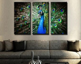 Peacock Canvas Set | Animal Canvas Set | Animal Poster | Animal Wall Decor|  Peacock