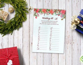 Christmas quiz etsy winter christmas wedding a to z bridal shower game winter games romantic wedding games trivia bridal filmwisefo Image collections