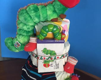 Hungry Caterpillar Diaper Cake #1