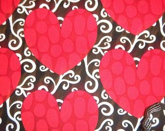 Heart Garden Red and Black Hearts by Robert Kaufman