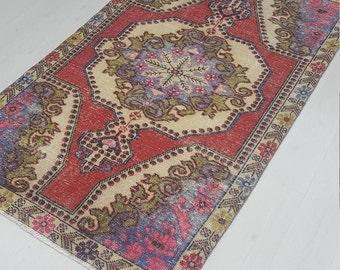 4'X7'  Oushak Rug Turkish RUG Vintage RUG Area Rug Home Decor Kitchen Rug ORIENTAL Rug Anatolian Rug Vintage Oushak Rug Rugs !!! Rug