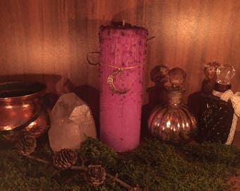 "Magic Candle ""Gypsie witch"" Dragon Treasures Ritual Candle Altar candle Candlemagick Occult Wicca Pagan Witchcraft"
