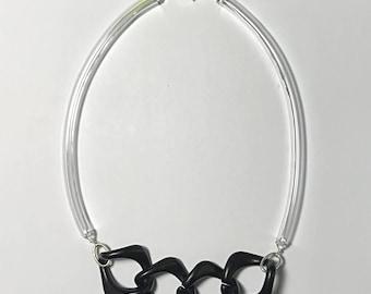 Fayjac Necklace in Black Chain