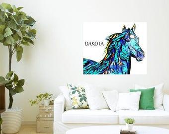Wall ART -HORSE -INSTANT download, Equestrian artwork, wall print