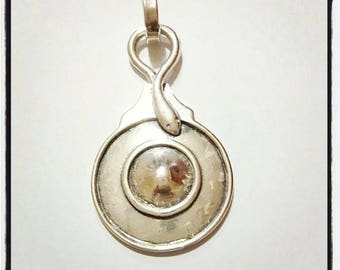 Hera collection pendant 925 Silver snake shield and processed entirely by hand
