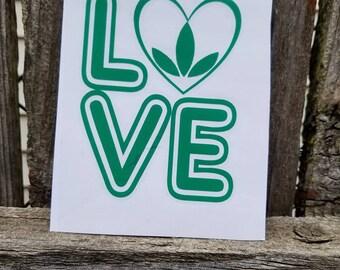 Custom Herbalife Love Decal