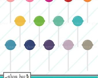 SALE- Lollipop- Clipart Set, Commercial Use, Instant Download, Digital Clipart, Digital Images-MP219