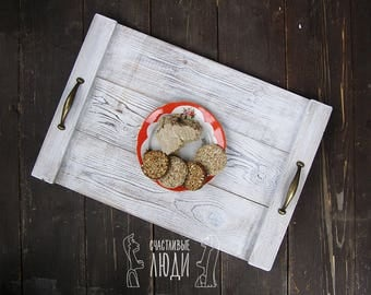 Tray for decoration. Tray made of wood.