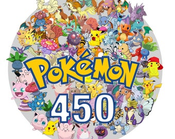 Pokemon 450 -Digital-ClipArt-JPG-image-300 PPI-Pokemon Heroes JPG Images-Digital Clip Art background-Pokemon Scrapbooking-Instant Digital