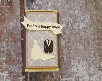 Happy Tears Kleenex Cover Wedding Tissue Cover Wedding Tissue Cover Tissue Cover Wedding Favor Custom Tissue Holder Travel Size Tissue Cover