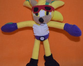 Handmade sonic the hedgehog rocker plush