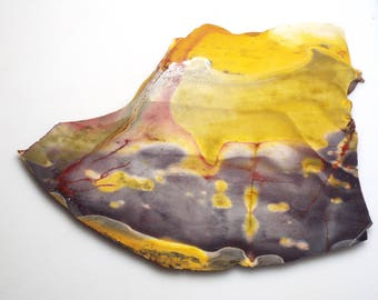 Colorful MOOKAITE slab for cabbing/display/lapidary