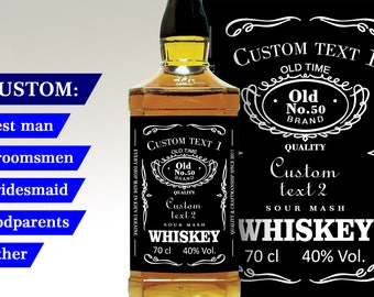 Custom  Label Personalised Custom Whiskey Label Liquor bottle label Personalised Bottle Bestman or Groomsman