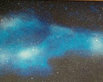 Electric blue nebula