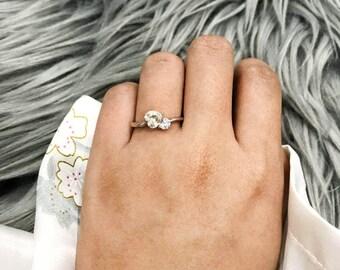 Heart Shaped Cubic Zirconia Ring