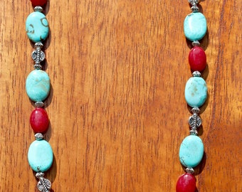 Turquoise and Jade Necklace