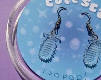 Isopod roly poly earrings | Biology | Invertebrate