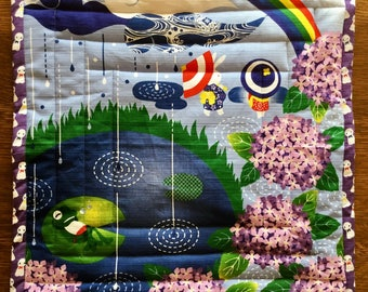 Cozy cat mat, colorful and whimsical quilted bed for your kitty - all proceeds to local humane society