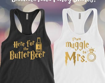 From Muggle to Mrs tank top, Harry Potter Tank top, Here for the Butterbeer, Universal Studios Bachelorette party, Disney wedding