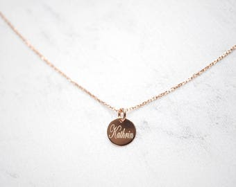 Chain of Names ~ 925 silver ~ Gold