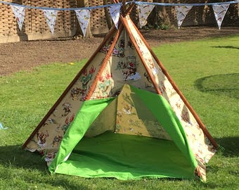 Children's Canvas Teepee - Cowboy