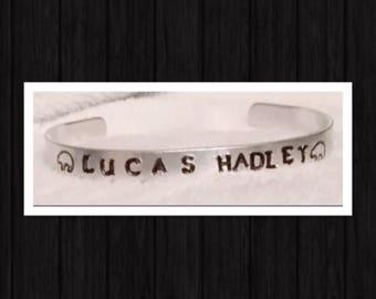 Aluminum Stamped Cuff Bracelet