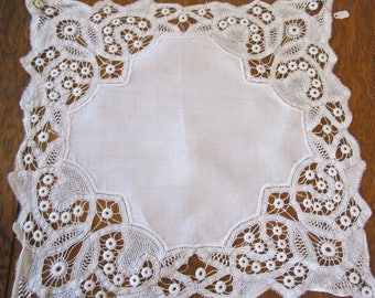 Antique Hand Made Lace Doily