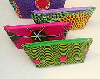 African Print Makeup Bags - Cosmetic Bag - Pencil Case - Zipper Pouch - Zipper Bag