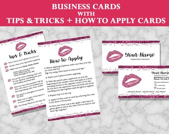 Lipsense Tips Card, Lipsense Business Cards, Senegence Tips & Tricks Card, Lipsense How to Apply, Instruction, Lipsense, Instant Download