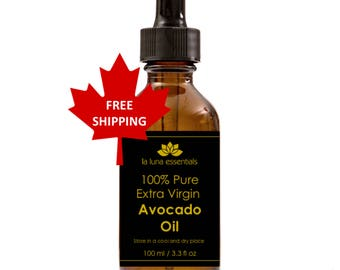 100% Pure Extra Virgin Avocado Oil - FREE SHIPPING - Massage Oil, Great for Soaps / Lotions / Creams