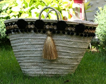 Black and gold basket