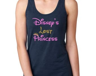 Disney's Lost Princess - Disney Princess Shirt - Women's Disney Shirt - Disney Racerback