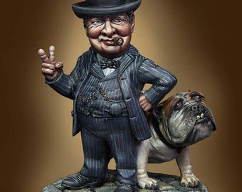 54mm collectible munuature, Winston by Cartoon Miniatures