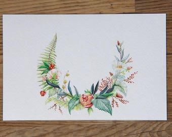 Custom floral artwork with digital files