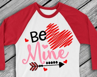 Valentine SVG - Valentin's Svg - Love SVG - Heart SVG - Valentine Cut File - Cupid Svg - Be Mine svg - Valentines Shirt - Arrow svg