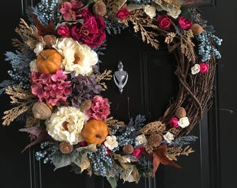 NEW FALL COLLECTION Magenta & Acorn Fall Wreath
