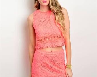 Lily Hot Pink Crop Set