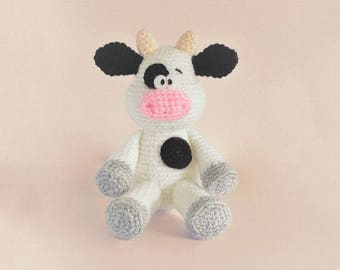 Crochet cow pattern - Amigurumi cow pattern - crocheted cow pattern - PDF crochet pattern - tutorial