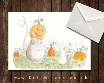 Whimsical Halloween Greetings Card - Trick Not Treat