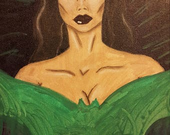 Vampira Canvas Portrait