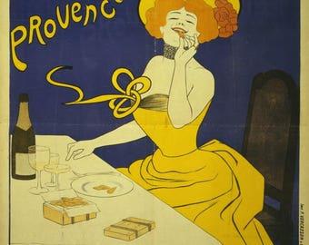 """Vintage """"Amandines de Provence"""" poster."""