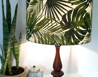 Lampshade with tropical leaves,  with leaves, tropical decor, Made in Australia