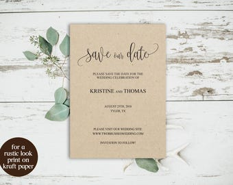 Save the Date Cards, Save the Date Template, DIY Save the Date, Save Our Date Cards, Wedding Template, Save the Date PDF, Editable Template