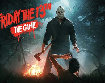 Friday The 13th JASON Ps4 Xbox 1 Smash Hit Game A3 Poster FREE P&P