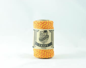 Yellow & Red No.5 Cotton Craft Twine/String 125g Approx 65m