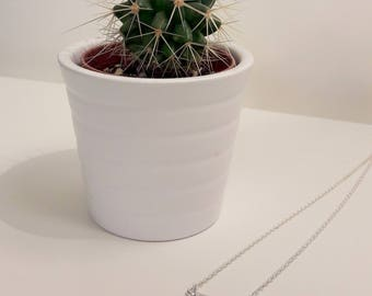 Silver plated necklace with triangle pendant