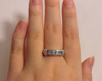 Aquamarine Ring ~ Sterling Silver Aquamarine Ring